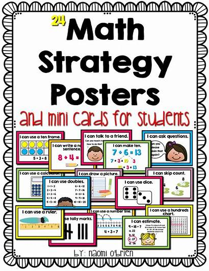 Math Posters Strategy Strategies Grade Poster Tools