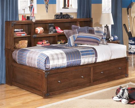 Bookshelf Bed by Delburne Bookcase Storage Bed From B362 85 51