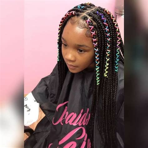 cute for lil girls box braids kids braided hairstyles