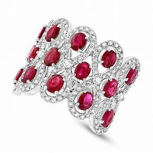ruby diamond 14k white gold ring wedding rings With ruby wedding band rings