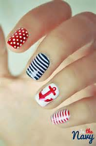 Navy blue nail art design interestingfor me