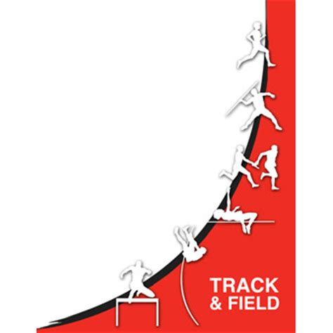 track field book design templates sports program printing