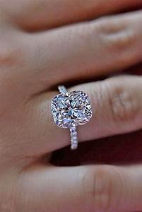 elongated cushion cut engagement ring wedding inspiration With wedding band with cut out for engagement ring
