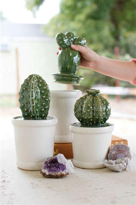 set   ceramic cactus canisters