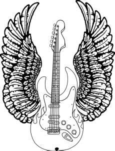 How To Draw A Guitar With Wings by Dawn | Guitar drawing