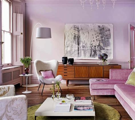 Living Room Wallpaper Lilac by The Lilac Living Room Cozy Stylish Chic