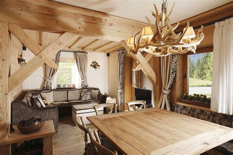 wood home interiors rustic alpine apartment with wood elements