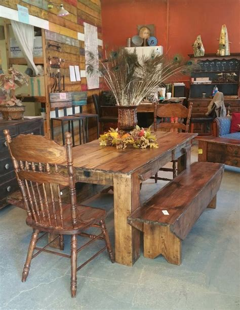 rustic dining room table reclaimed barn board finish