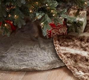 pottery barn christmas decorations mercury home decor and With christmas tree skirt pottery barn