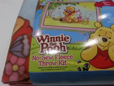 Disney Winnie The Pooh No-sew Fleece Blanket Throw Kit Doctor Who Tardis Throw Blanket How To Make Fleece Blankets No Sew What Is A Solar Crochet Baby For Girl Foil Thermal Plush With Animals Hug Horse Little Me