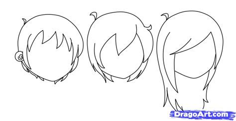 Drawn long hair chibi   Pencil and in color drawn long