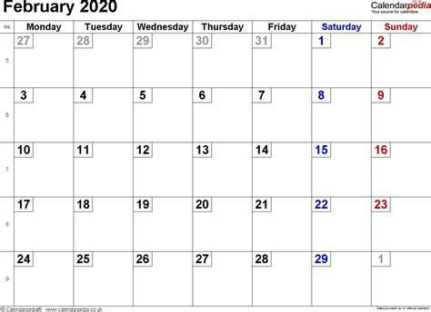 calendar february uk bank holidays excelpdfword