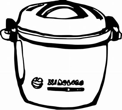 Rice Cooker Clipart Vocabulary Openclipart Kitchen Esl