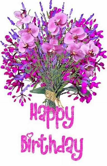 Birthday Happy Flower Clipart Clip Transparent