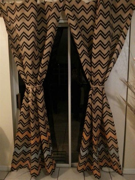 chevron burlap diy curtains thanks hobby lobby