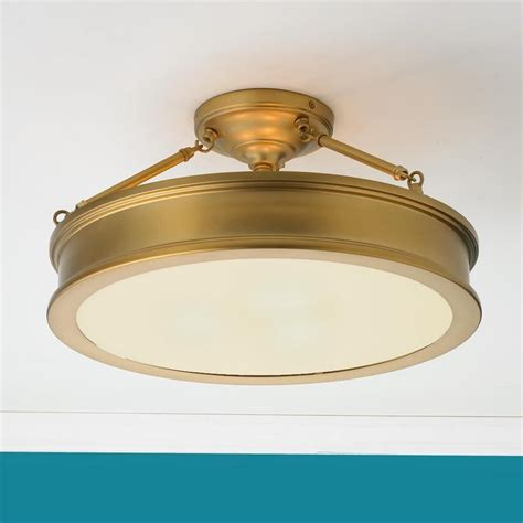traditional semi flush ceiling light