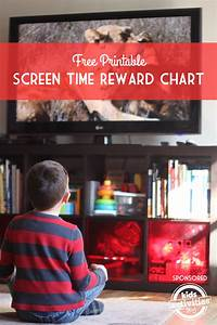Free Printable Screen Time Reward Charts Kids Activities