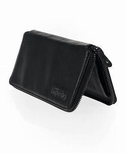 New Superdry Zip Clutch Purse Wallet Black Leather | eBay
