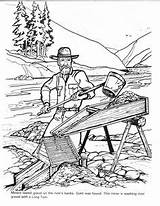 Gold Coloring Rush Barkerville Pages Colouring Mining Billy Printable Barker Books Panning Box Sheets Discover Cowboys Klondike Miner Yumpu Worksheet sketch template