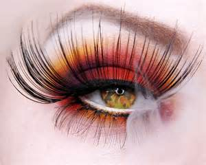 Fire Eye Makeup Halloween