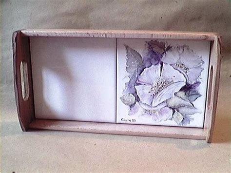piastrelle dipinte a mano vassoio con piastrelle dipinte a mano per la casa e per