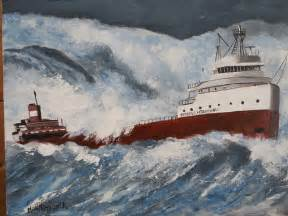 the sinking of edmund fitzgerald painting by martin potashner