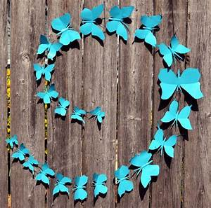 Turquoise teal butterfly wedding decor d metal wall art