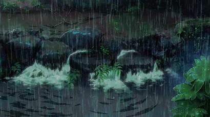 Rain Anime Garden Animated Gifs Words Aesthetic
