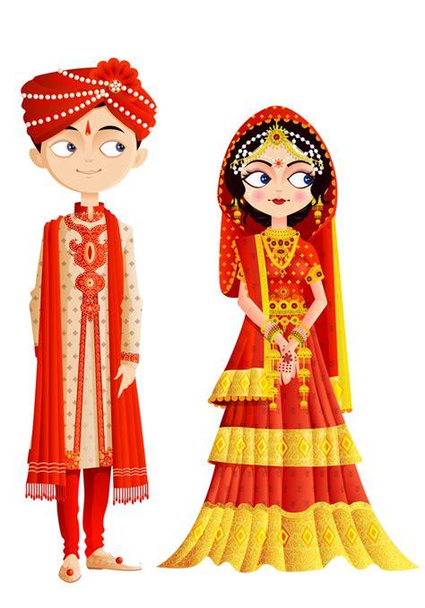 stock vector illustration indian wedding couple