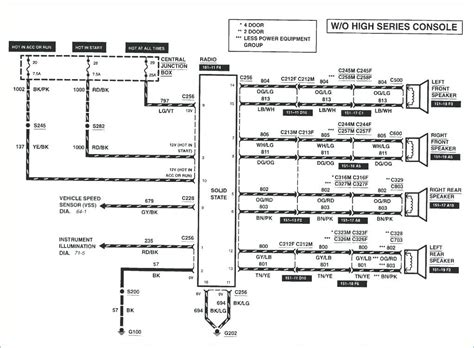 ford  radio wiring diagram  wiring