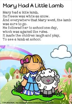 mary    lamb poster  eye popping fun resources