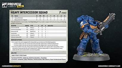 40k Space Intercessor Warhammer Intercessors Marines Primaris