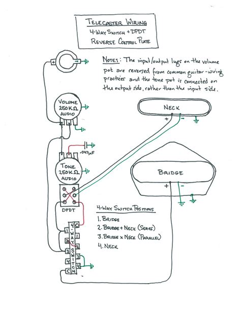 Wiring Diagram Tele Way Switch With Dpdt Reverse