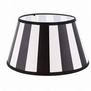 Lampenschirm Schwarz Weiß Gestreift : lampenschirm aus stoff schwarz beige sehr helles beige gestreift rund 30cm aufnahme e27 ~ Bigdaddyawards.com Haus und Dekorationen
