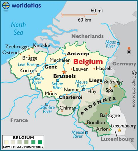 belgium large color map