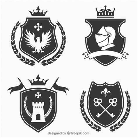knight shield vectors psd files