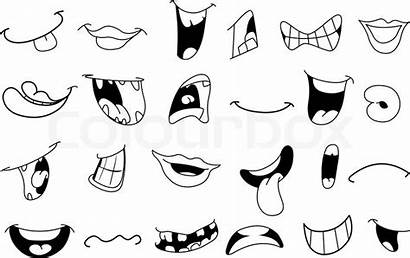 Mouth Cartoon Printable Mouths Clip Mund Outlined
