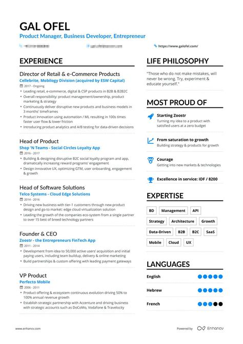 How Do I Create A Cv On My Computer by Real Business Development Resume Exle Enhancv