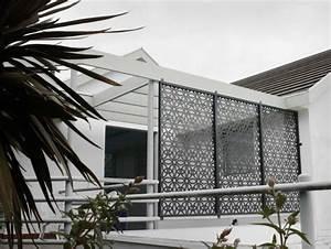 Sichtschutz aus lochblech fur garten und balkon for Französischer balkon mit garten paneele