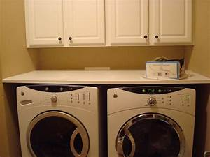 Countertop, Over, Washer, And, Dryer