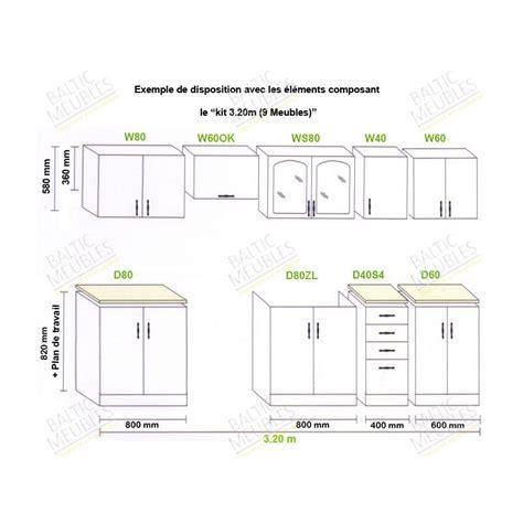 plan meuble cuisine modele meuble de cuisine idées de décoration intérieure