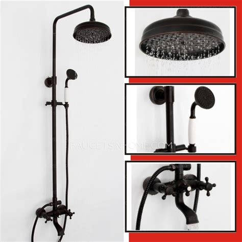 wall mount soap black antique two handle shower faucet system rubbed