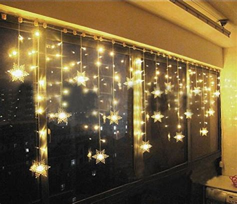 Weihnachtsdeko Fenster Bunt by Blueoceans 93er Led Lichtervorhang Lichterkette Lang