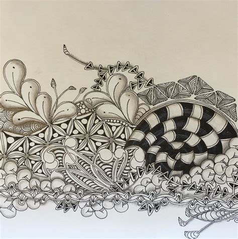 Kitchen Table Zentangle by A Reminder To Embrace Your Zentangle Practice