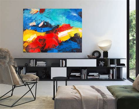 abstract painting master bedroom art living room textured