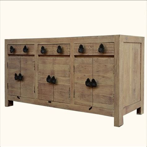 Reclaimed Wood Buffet Sideboard by Santa Fe Black Orchid Reclaimed Wood 3 Cabinet Sideboard