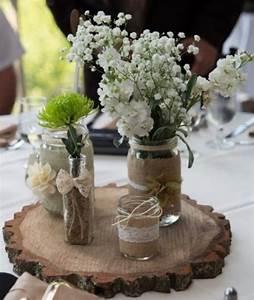 Mason, Jar, Centerpieces, For, Wedding