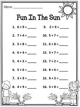 addition fun   sun  educating   life tpt