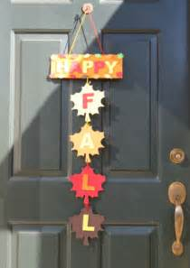 Fall Door Hanger Craft