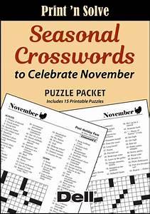 Seasonal Crosswords To Celebrate November Puzzle Packet